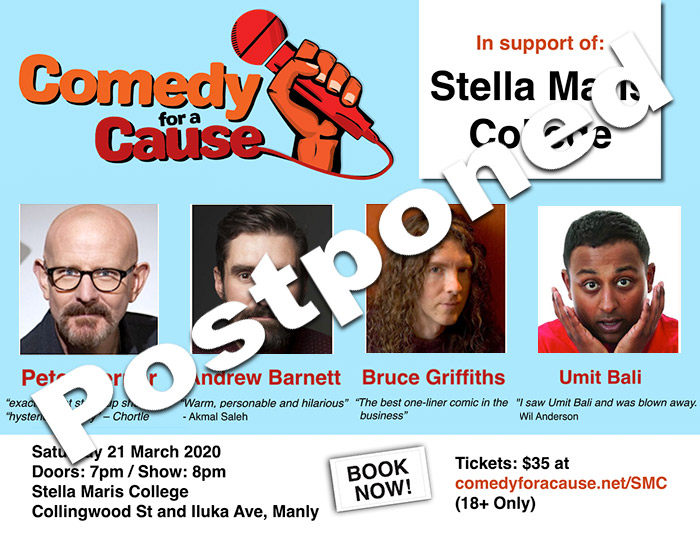Comedy for a Cause Postponed